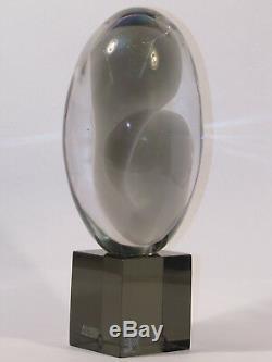 Livio Seguso Signed Original Art Glass Sculpture Murano Italy Mother & Child