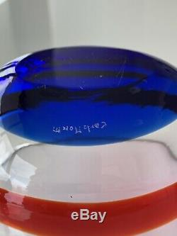 Lot Of 3 Carlo Moretti Bowls Murano Art Glass Italy Signed Bergdorf Goodman