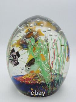 MASSIVE CENEDESE ERA MURANO FISH AQUARIUM ART GLASS SCULPTURE 6 / 7.8 Lbs