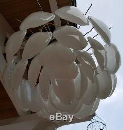 MCM Vintage Camer Murano Glass chandelier 34 leaves on a 4 tier Electric light
