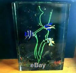 MID CENTURY MODERN Alfredo Barbini Cenedese Murano Glass AQUARIUM NEON