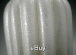 MID Century G Ferro Murano Glass Pulegoso Frothy Bubbles Lamp Base White Label