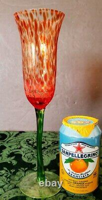 MURANO 1950's Champagne Hand Blown Flute Gorgeously believed Carlo Moretti