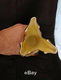 MURANO Tall Art Glass Vases 2, Cristalleria Fratelli Betti Empoli Very Rare 19.5