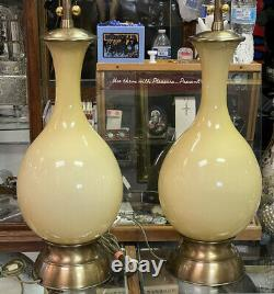 Marbro Murano Hand Blown Glass Table Lamps Hollywood Regency MCM