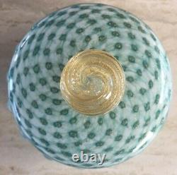 Mid Century Alfredo Barbini Art Glass Box Murano Jewelry Trinket Candy Italian