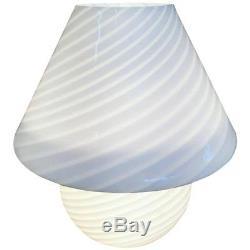 Mid-Century Modern Murano Hand Blown Mushroom Lamp