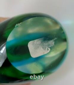 Mid Century Modern Murano Seguso Flavio Poli Teardrop Art Glass blue green clear