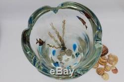 Murano Aquarium/Fish Huge Art Glass Vase Barbini Cenedese Mid Century Signed