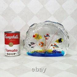 Murano Art Glass Fish Aquarium Glass Sculpture 1950s Barbini Cenedese Style