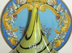 Murano Art Glass Large Vase Signed by Artist Alberto Dona 17 High