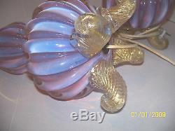 Murano Barovier &Toso 20th Century Art glass lamps