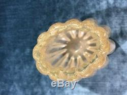 Murano Barovier & Toso Cordonato D Oro Gold Leaf Vase Circa 1950's VERY RARE