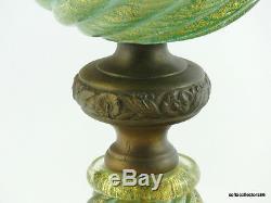 Murano Ercole Barovier Designed Cordonato Oro Lamp by Barovier & Toso ca 1950-51