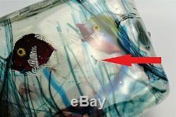Murano Glass Aquarium block Fish Sculpture