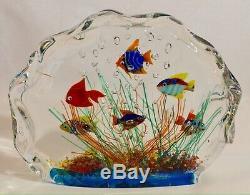 Murano Glass Fish Aquarium Glass Sculpture Barbini Cenedese Style