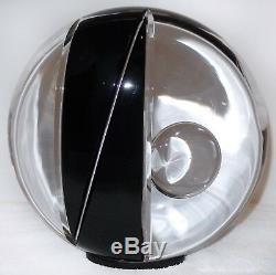 Murano Glass ORB Sculpture Livio Seguso Ogetti Black Clear CUT Glass 25 pounds