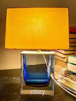 Murano Glass Table Lamp Signed by Paolo Venini from the 1950s