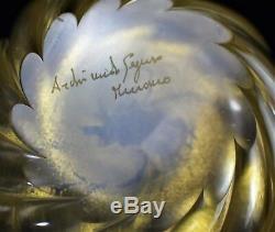 Murano Glass Vase Archimede Seguso Signed Vintage