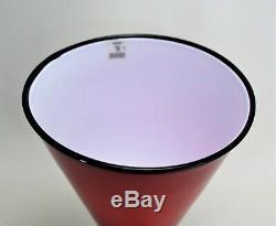 Murano Glass Vase Barovier & Toso Signed MCM
