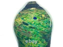 Murano Glass Vase Multi Color Confetti Hand Blown Art Glass Vase Italy 9