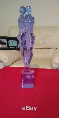 Murano Glass lovers figurine signed Andrea Tagliapietra Alexandrite Neodymium