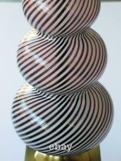 Murano Gourd-Form Lamp by Dino Martens for Aureliano Toso Italian Venetian Glass