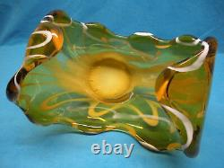 Murano Hand Blown Italian Art Glass Free Form Center Piece Bowl