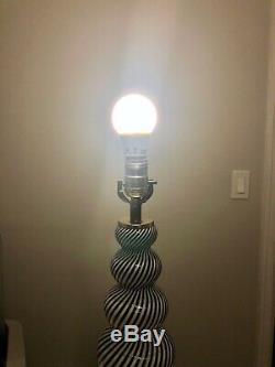 Murano Hand Blown Swirl Glass Lamp by Dino Martens Aureliano Toso Italian