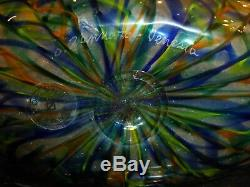 Murano Handblown Glass Large Vase by Master Orlando Zennaro, Venice 14 3/8