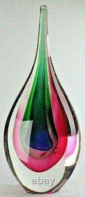 Murano Italian Art Glass Hand Blown A Heavenly Teardrop 11 Tall Sculpture