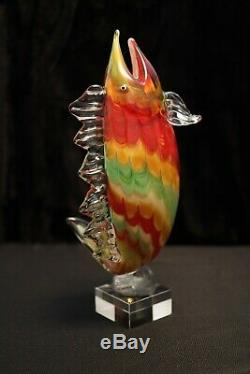 Murano Italian Art Glass SUPER GIANT SIZE SPORT FISH Bass, Trout, etc