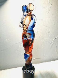 Murano Italian Art Glass Sculpture Signed Oggetti 15 Lovers Embraced Bandolini