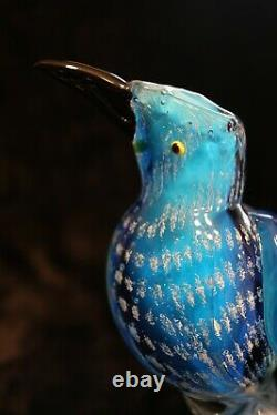 Murano Italian Art Glass UNIQUE AMERICAN BIRD EAGLE RED+WHITE+BLUE WOW