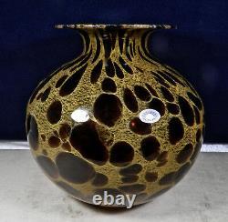 Murano, Italy Azzurra Vetreria Artistica Hand Blown 9 3/4 Tall Art Glass Vase