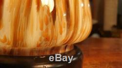 Murano Mushroom Table Lamp, Handblown Glass Vintage Italian Designer Lighting