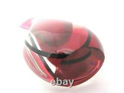 Murano Oball sommerso fishtail vase L Onesto pink art glass