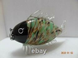 Murano Style Glass Art Hand Blown Koi Fish Figure 12