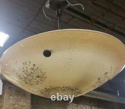 Murano Venetian Hand-Blown Art Glass Dome Pendant Chandelier D 23.5