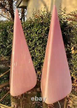 Murano Vetri Italian Glass Pyramid Lamps 27 WOW