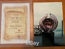 Murano glass Large Alexandrite Sculpture Licio Zanetti signed 1994 COA 40 Lbs
