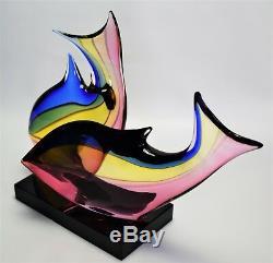 Murano glass Sculpture Signed Archimede Seguso Fish