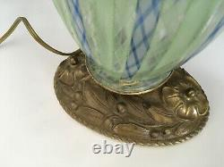 Murano glass lamp Latticino or Zanfirico style- excellent vintage condition-NICE