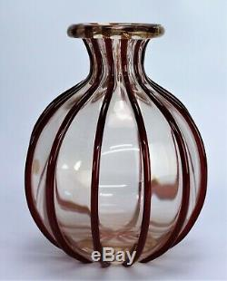 Murano glass vase Archimede Seguso Signed