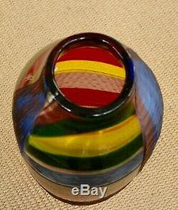 NEW Afro Celotto Handblown Murano Glass Vase with Certification. Venice. Italy