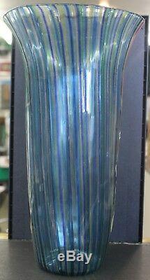 Nice Tall Vintage Mid Century Venetian Glass Hand Blown Murano Vase