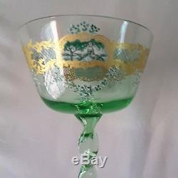OOAK Hand Blown Italian Venetian Murano Salviati Champagne glasses. Xmas Gift