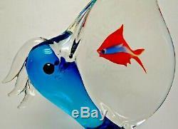 Ogetti Signed Elio Raffaeli Pelican With Fish In Beak