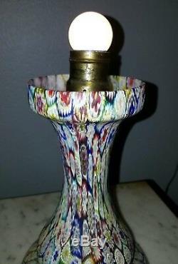Outstanding 13 Vintage Millefiori Murano Glass Lamp Toso Fratelli