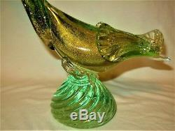 Pair of Murano Italy Art Glass Bird Figurines
